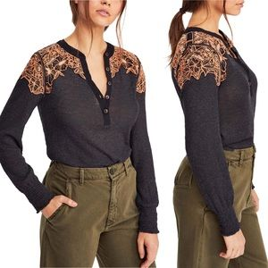 Free People Easy Breezy Henley Top